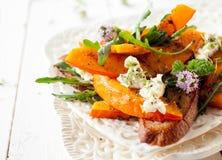 Стиль салата тыквы Хоккаидо гурмана цветя Стоковое Изображение RF