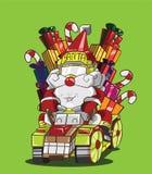 Стиль северного оленя Gokart. Поставка Санта Клауса подарки Стоковая Фотография