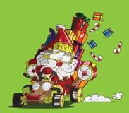 Стиль северного оленя Gokart. Поставка Санта Клауса подарки Стоковое Фото