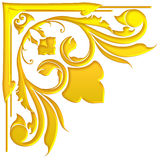 Стиль старого античного дизайна рамки золота традиционного тайский Стоковая Фотография
