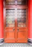 Стиль старой двери китайский Стоковое Изображение
