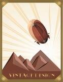 Стиль стиля Арт Деко иллюстрации Зеппелина стоковые изображения