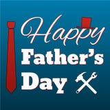 Стиль счастливой карточки Дня отца ретро Стоковые Изображения RF