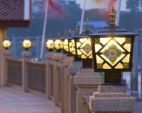 Стиль Таиланда фонарного столба Стоковая Фотография