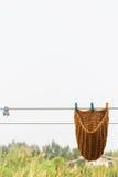 Стиль Таиланда шляпы монаха, сушит вне в солнечном свете после мыть Стоковая Фотография