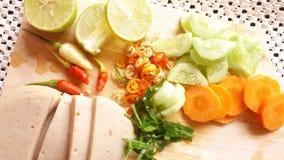 Стиль тайского семени Яма подсказки bolona свинины куска салата немедленного тайский Стоковое Изображение RF