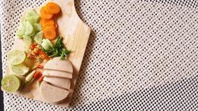 Стиль тайского семени Яма подсказки bolona свинины куска салата немедленного тайский Стоковые Изображения RF