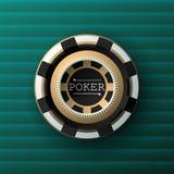 Стиль-туз предпосылк-года сбора винограда казино, Vip, казино Стоковое Изображение RF
