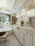 Стиль тщет ванной комнаты классический Стоковая Фотография