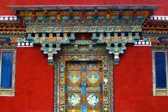 Стиль украшения двери Стоковое Фото