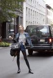 Стиль улицы aldridge фотомодели рубиновый Стоковая Фотография RF