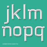 Стиль цвета алфавита современный. Стоковое фото RF