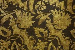 Стиль цветков и листьев - античное золото текстурировало backgro нашивок Стоковые Фото