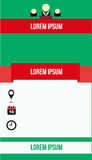 Стиль шаблона брошюры простой стоковые изображения rf