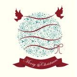 Стиль шарика рождества винтажный Стоковые Изображения RF