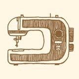 Стиль швейной машины винтажный Стоковое Изображение RF