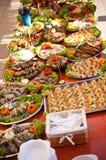 Стиль шведского стола еды рыб стоковые изображения rf