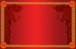 Стиль шильдика китайский с китайским drogon Стоковое фото RF