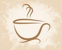 Стиль grunge кофейной чашки Стоковое Изображение RF