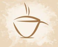 Стиль grunge кофейной чашки Стоковые Изображения