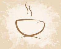 Стиль grunge кофейной чашки Стоковые Изображения RF