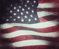 Стиль grunge США флага Стоковое Изображение