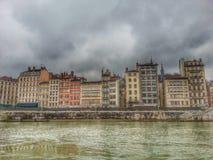 Стиль HDR городка Лиона старого, Франции Стоковое Фото
