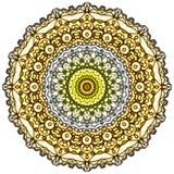 Стиль Mehndi мандалы Стоковые Фотографии RF