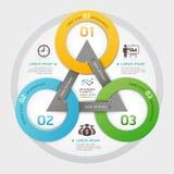 Стиль origami круга руководства бизнесом. Стоковая Фотография