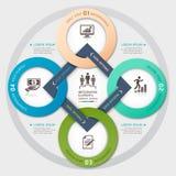 Стиль origami круга руководства бизнесом. Стоковое Изображение RF