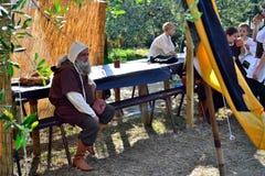Стиль Rapresentation средневековый в фестивале Lastra города Marmantile средневековом SIGNA Стоковые Фото