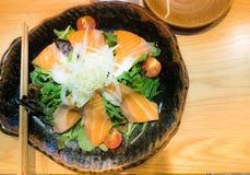 Стиль Salmon ресторана заказа японский Стоковые Фотографии RF