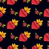 Стиль schooll священной печати сердца старый Стоковые Фотографии RF