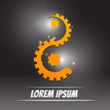 Стиль yang yin логотипа с концепцией инженерства Стоковые Фотографии RF