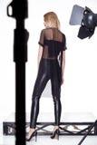 Стиля моды одежд женщины красивое модельного сексуальное Стоковое фото RF
