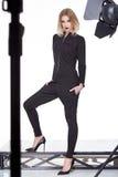 Стиля моды одежд женщины красивое модельного сексуальное Стоковое Изображение