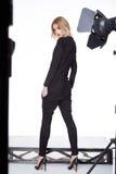 Стиля моды одежд женщины красивое модельного сексуальное Стоковые Изображения RF