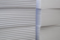 Стога блоков белой бумаги Стоковые Фото
