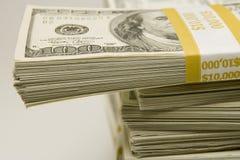 Стога денег стоковая фотография rf