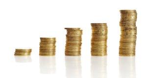 стога золота монетки Стоковое Изображение RF