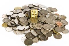 стога золота монеток штанг Стоковые Изображения RF