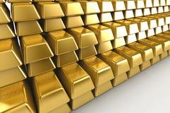 Стога золота в слитках стоковое фото