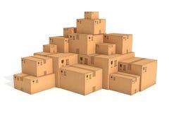 Стога картонных коробок иллюстрация вектора