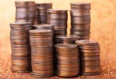 Стога монеток Стоковая Фотография