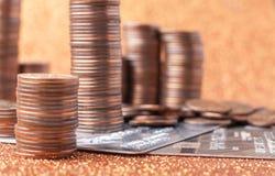 Стога монеток Стоковые Фото