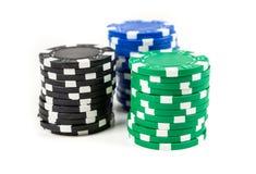 стога покера изображения обломоков произведенные компьютером Стоковые Изображения