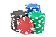 стога покера изображения обломоков произведенные компьютером Стоковое Изображение