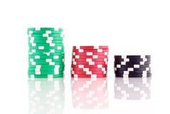 стога покера обломоков Стоковая Фотография RF