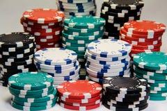 стога покера обломоков стоковые фотографии rf
