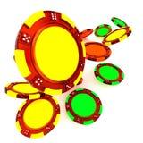 стога покера обломоков Стоковая Фотография